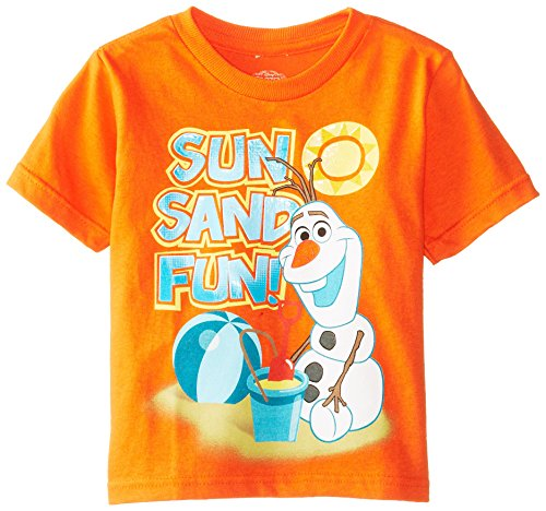 Disney  Boys' Frozen Olaf Sun Sand Fun T-Shirt