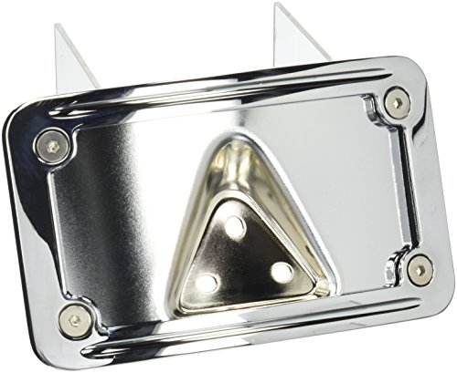 Kuryakyn 9171 Laydown License Plate Mount with Frame (Kuryakyn Curved Frame Plate License)