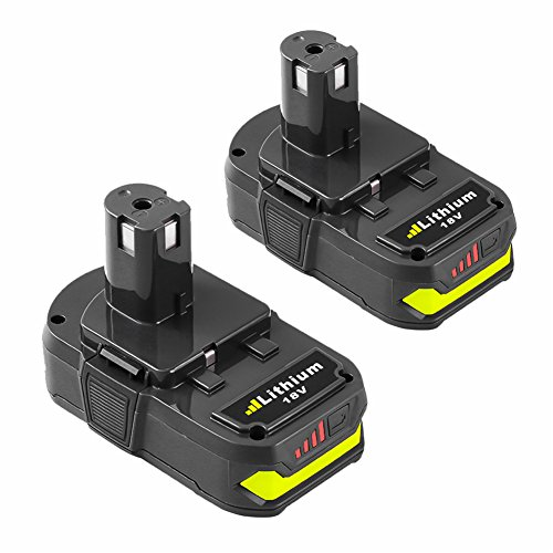 Replace for Ryobi 18v Battery P102 2500mAh Lithium Ion One Plus P103 P105 P107 P108 P109 Compact ONE+ Cordless Tool (2-Pack)-SUN POWER