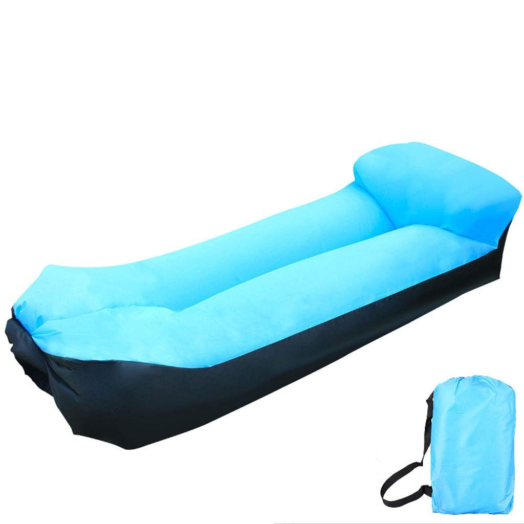 Inflatable Lounger Air Sofa Blow Up Couch Chair Outdoor Lazy Sofa Air Lounger Inflatable Lazy Bag Air Hammock Portable-Couch for Beach Traveling Camping Park Picnics & Swimming Pool (Color : Blue) by Chenguojian
