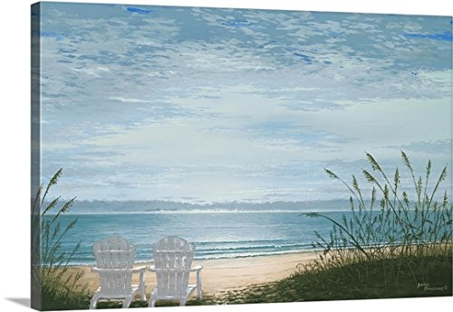 Bruce Nawrocke Premium Thick-Wrap Canvas Wall Art Print entitled Beach Chairs by Canvas on Demand