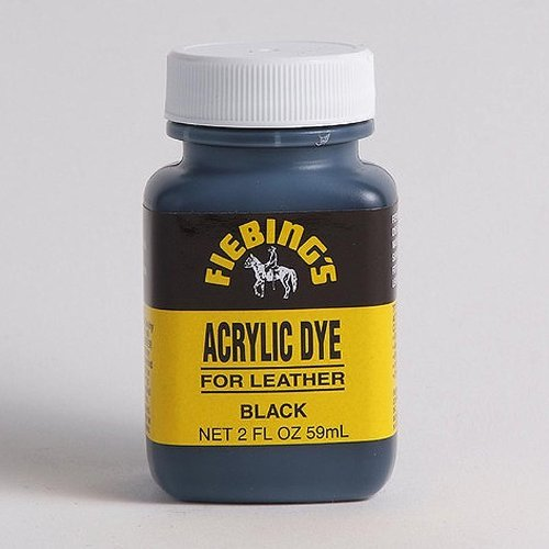 - Fiebing's Acrylic Leather Dye - 2 Ounces, Black