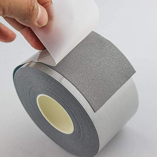 10 yds IRON ON Reflective Tape Light Weight Silver Reflective Fabric Motorcycle Reflective Safety Tape - Silver Iron-On -Vest Trim Strip Vest Trim Strip (2