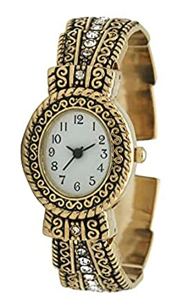 Amazon.com: Metal Ladies Western Bangle/Cuff Watch With