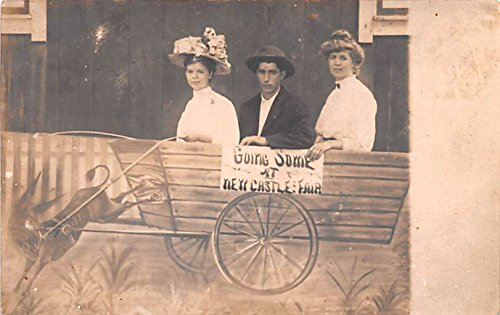 (Buggy Ride New Castle, Indiana postcard)