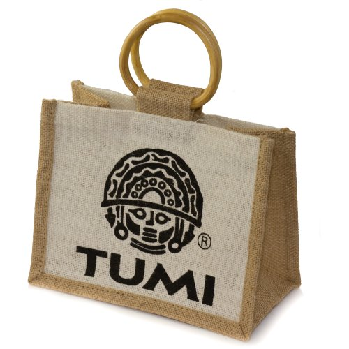wholesale 10 22x17x12cms Tumi set Small Fair from Bag handles bamboo with India trade Jute of A1YnaHf
