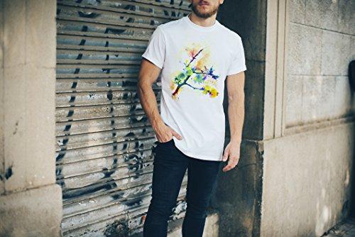 Zweig Herren T- Shirt , Stylisch aus Paul Sinus Aquarell Color