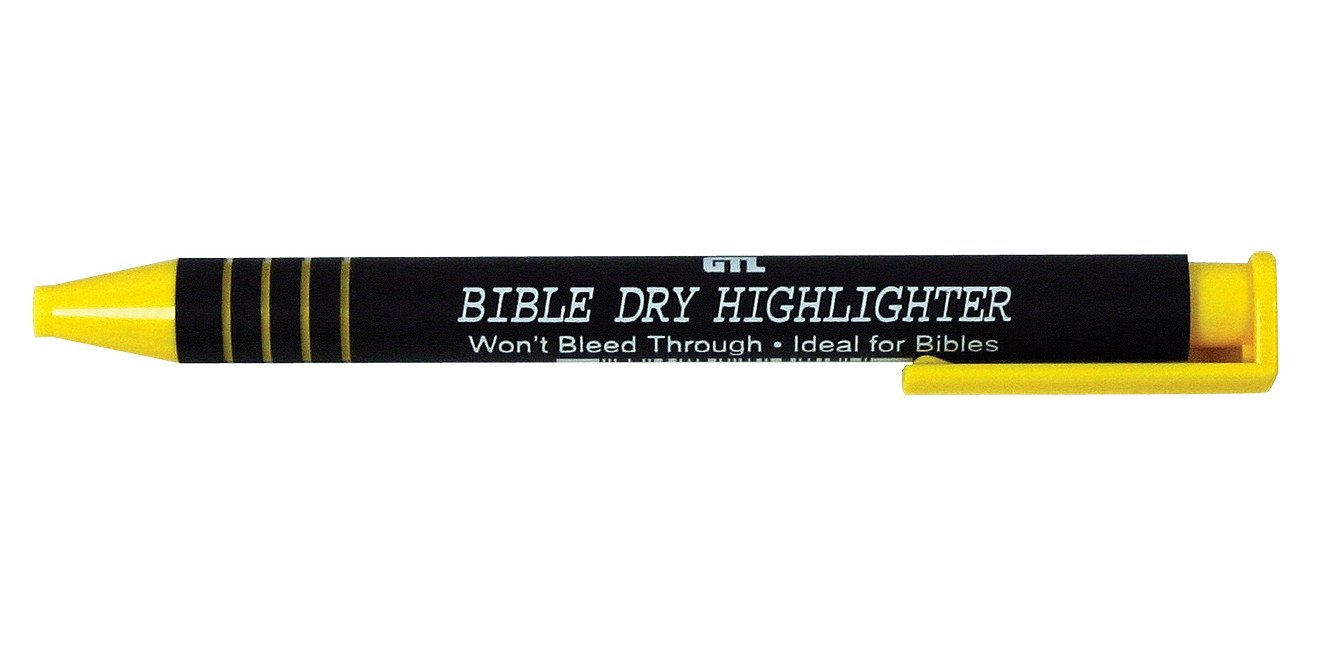 Bible Dry Highlighter - Yellow 12pk by G T Luscombe