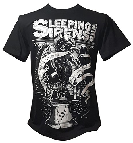 Sleeping with Sirens Crow American Rock Band Black Size L (Black Crow Clothing)