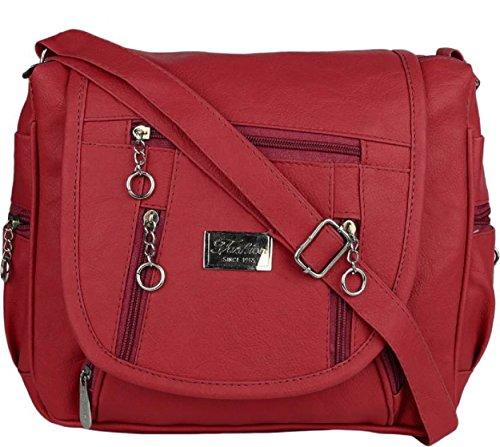 Maango Sitar Girl's PU Sling Bag (Maroon)