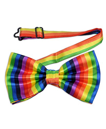 Fashion Striped Rainbow Adjustable Bow Tie -
