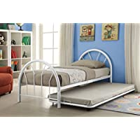 ACME Furniture 30450T-WH Silhouette Bed, Twin, White