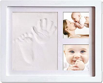 Baby Footprint Handprint Clay Photo Frame Kit Keepsake Shower Gift Christening