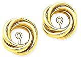 ICE CARATS 14k Yellow Gold Love Knot Ear Jacket Earring Jackets For Studs Fine Jewelry Gift Set For Women Heart