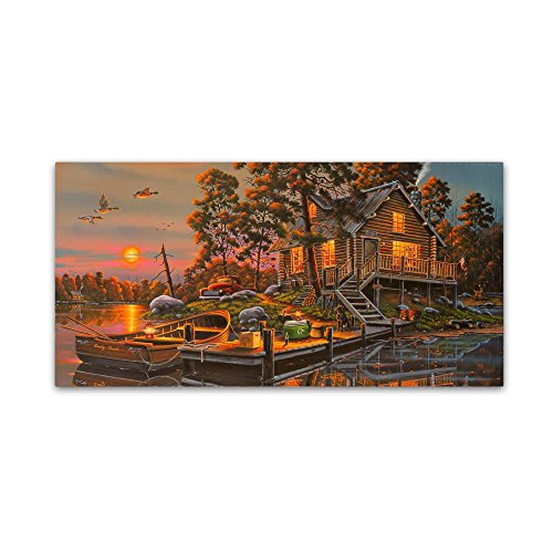 Trademark Fine Art Duck Haven by Geno Peoples, 10x19-Inch Canvas Wall Art