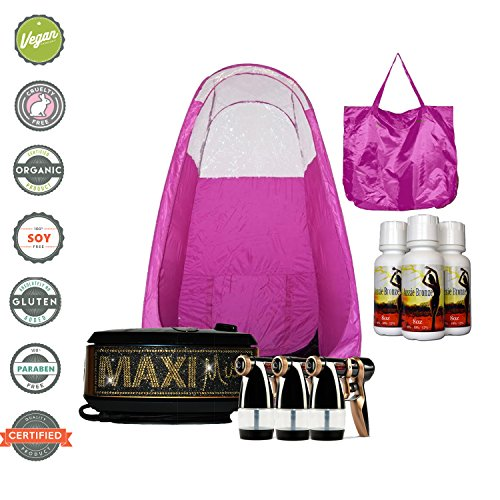 MaxiMist Allure Xena BLING Sunless Spray Tanning System with Popup Tent (Pink)