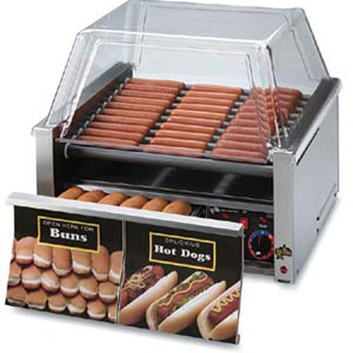 Star 50SCBD Hot Dog Roller With Bun Drawer Nonstick Roller, 50 Dog, 48 Bun Capacity, 120 Volt