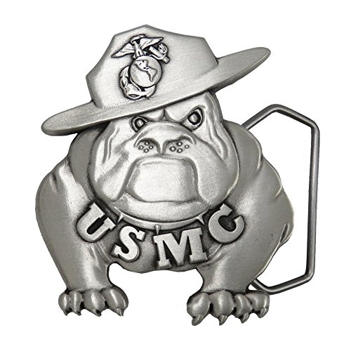 Indiana Metal Craft US Marine Corps Solid Pewter Bulldog Belt Buckle. Made in ()