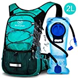 Mothybot Insulated Hydration Backpack Pack with 2L BPA Free Waterproof Bladder Hiking Backpack with Storage for Kids, Men/Women- Keep Liquid Cool up to 5 Hours - for Running,Cycling,Camping,Outdoors