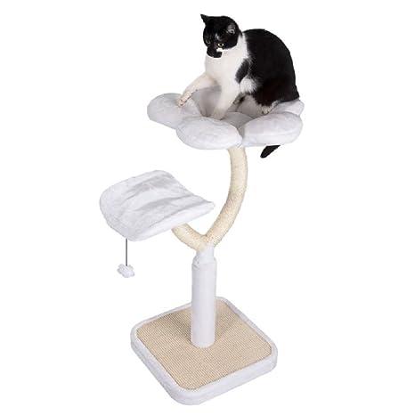 Blanco gato de flores árbol: Amazon.es: Productos para mascotas