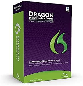 Nuance Dragon Dictate Medical for Mac - 1 License Retail Box with No Maintenance