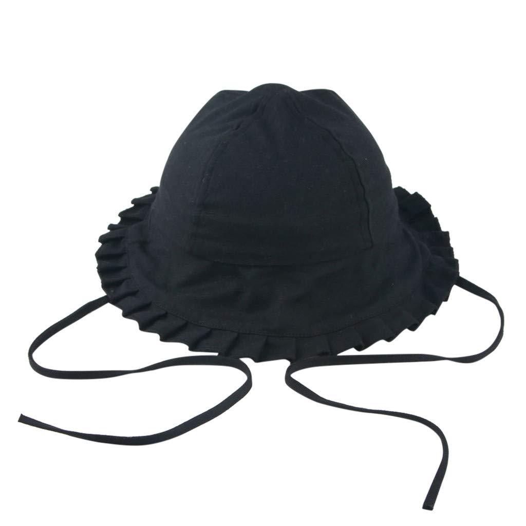 SPF Protective Bucket Cap Cotton Fishmen Hat Riverdalin Toddler Kids Baby Girl Breathable Sun Hat Cotton Foldable 50