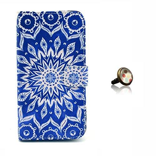 PowerQ [ para IPhoneSE IPhone 5S SE 5G 5 IPhone5 IPhone5S - 17 ] PU Funda Serie bolsa Modelo colorido con bonito hermoso patrón de impresión Impresión Dibujo monedero de la cartera de la cubierta móvi 30