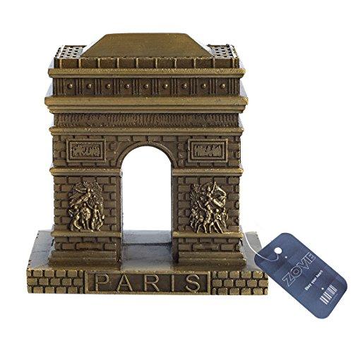 - ZOVIE France Paris Triumphal Arch Pure Copper Statue (3.2in Top)