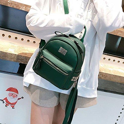 DORIS NICOLE Sac amp; Vert Leather Girl Rucksack Cute Sac Casual PU à dos d'école grg5w