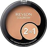 Revlon Colorstay 2-in-1 Compact Makeup & Concealer, Medium Beige, 0.38 Ounce