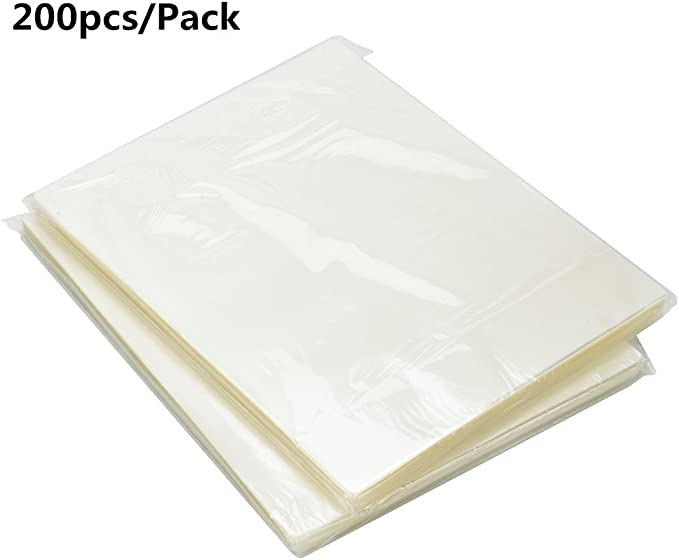 9527 Product 200 pcs Thermal Laminating Pouches 3 Mil Clear Letter Size Laminating Sheets 8.5 X 11 Inch