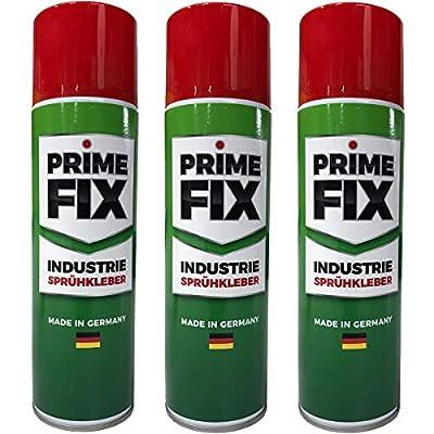 3 x Prime FIX Sprühkleber - Industriekleber - extra stark 500ml