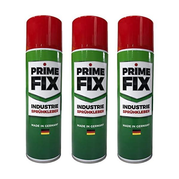 51riqU4owGL 3 x Prime FIX Sprühkleber - Industriekleber - extra stark 500ml