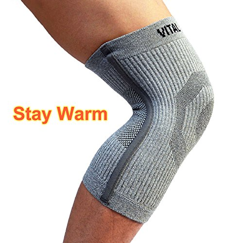 (Vital Salveo-Compression Recovery Knee Sleeve/Brace ST3-Stay Warm, Pain Relief, Protects Joint - Ideal for Sports and Daily Wear (S))