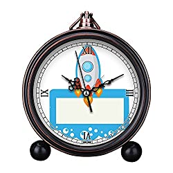Vintage Retro Living Room Decorative Non-ticking, HD Glass Lens, Easy to Read, Quartz, Analog Large Numerals Bedside Table Desk Alarm Clock-367.Rocket, Spaceship, Clip Art, Clipart