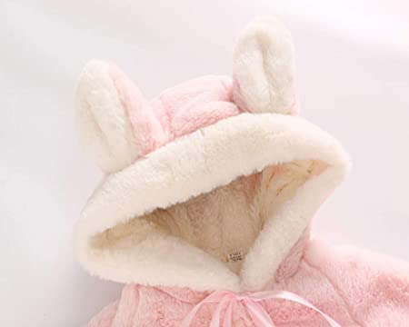 Amazon.com: Dacawin Grils Winter Long Sleeve Worsted Rabbit Hooded ...