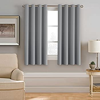 Amazon.com: Grey Blackout Curtain for Bedroom - NICETOWN Thermal ...