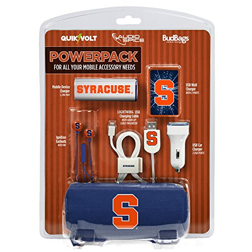 Syracuse Orange Mobile Accessory PowerPack with Lightning USB Cable by QuikVolt