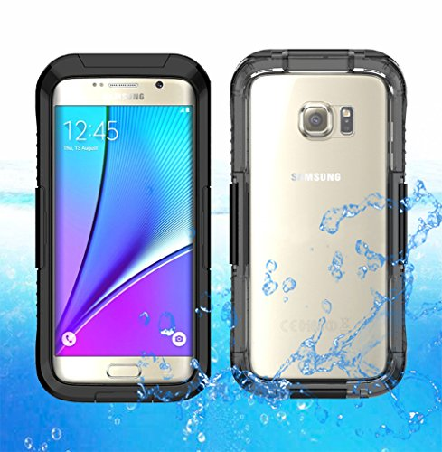 Shockproof Armor Case for Samsung Galaxy S7 Edge (Crystal/Black) - 3