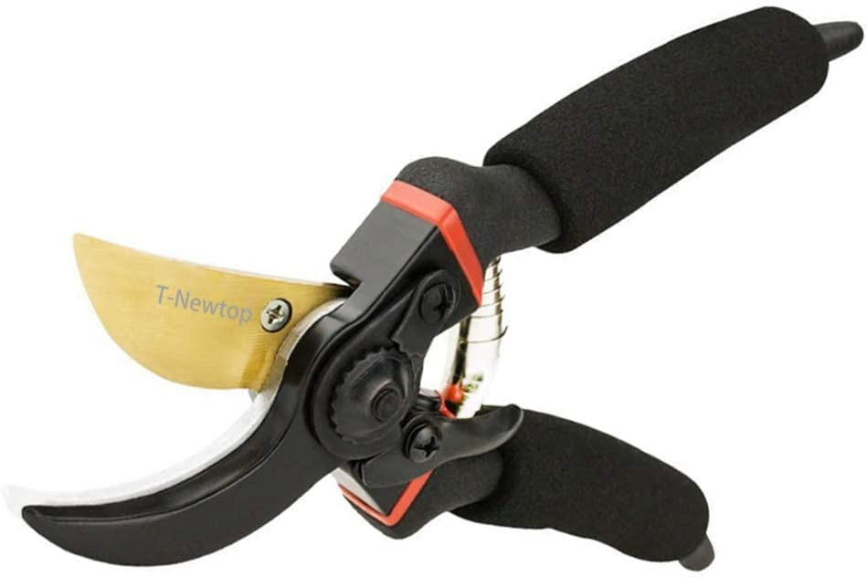 "8"" Professional Premium Titanium Bypass Pruning Shears, Hand Pruners, Garden Clippers"