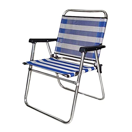 Silla Plegable de Playa o Camping Azul de Aluminio Garden - LOLAhome