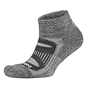 Balega Blister Resist Quarter Socks For Men and Women (1-Pair) (2017 Model), Charcoal, Large