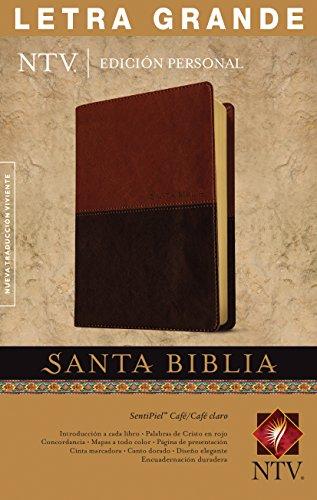 Santa Biblia NTV, Edición personal, letra grande, DuoTono (Letra Roja, SentiPiel, Café/Café claro) (Spanish Edition)