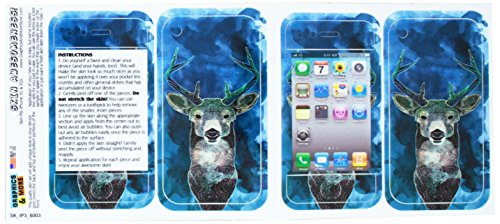 calcomanía graphics and more de piel protectora funda de neopreno para iPhone 3, 3 G, 3 GS – empaquetado – ciervo...