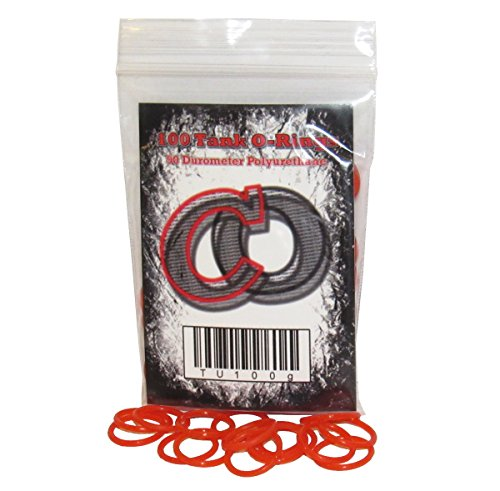 100 Polyurethane CO2 / HPA Tank O-Rings (90 Durometer) [RED] Paintball Gun O-ring
