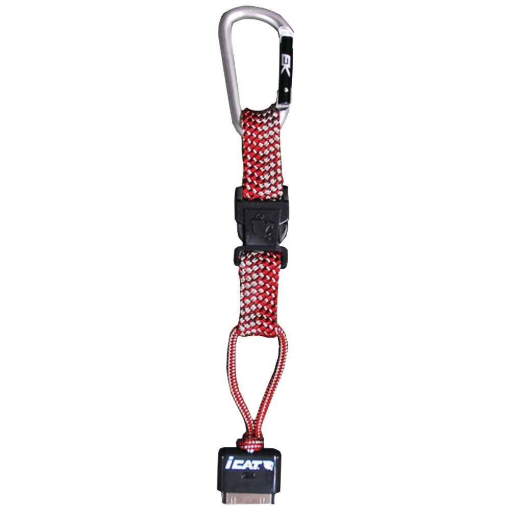 iCat Hang It Carabiner Leash with Soft End Attachment - Retail Packaging - Red (11015CP-C100)