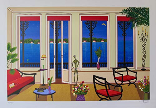 FANCH LEDAN BALCONY OVER BAHIA Hand Signed Limited Edition ()