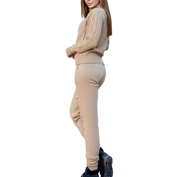 Dihope, - Conjunto de chándal para Mujer (2 Piezas) Kaki 5 Talla ...