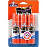 Elmer's Disappearing Purple School Glue Sticks, 0.77 oz Each, 3 Sticks per Pack (E562)