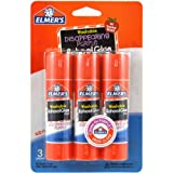 Office Products : Elmer's Disappearing Purple School Glue Sticks, 0.77 oz Each, 3 Sticks per Pack (E562)